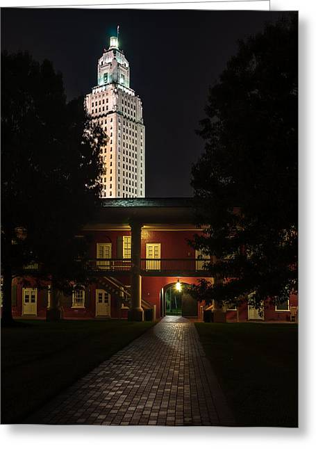 Louisiana State Capitol And Pentagon Barracks Greeting Card
