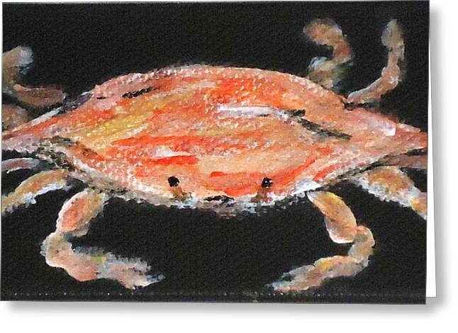 Louisiana Crab Greeting Card by Katie Spicuzza