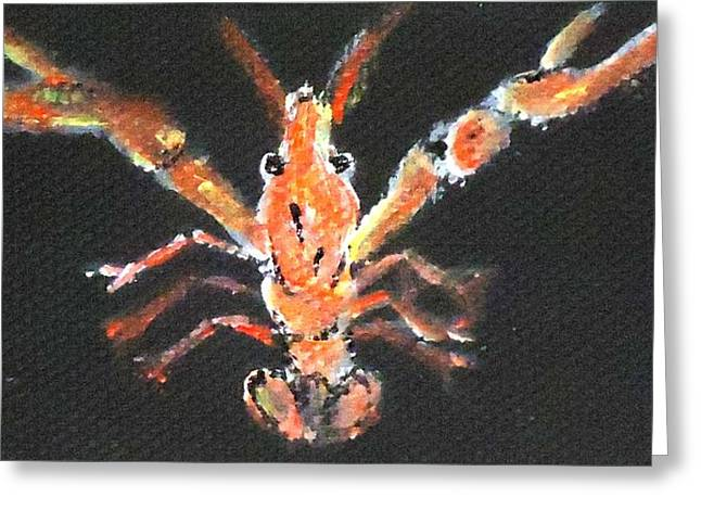 Louisiana Crawfish Greeting Card by Katie Spicuzza