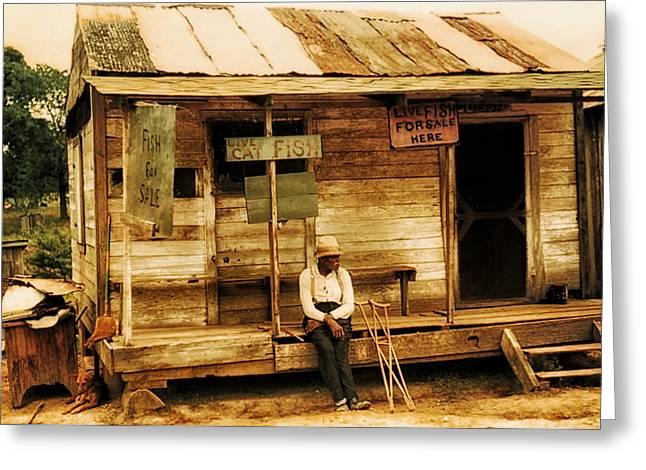 Louisiana Fish Shop In 1940 Greeting Card by Mountain Dreams