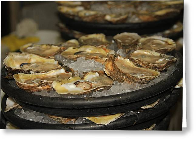 Louisiana Raw Oysters Greeting Card by Ronald Olivier