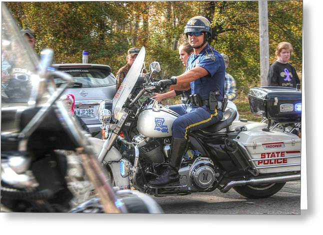 Louisiana State Police At The Redneck Parade Greeting Card by Ester  Rogers