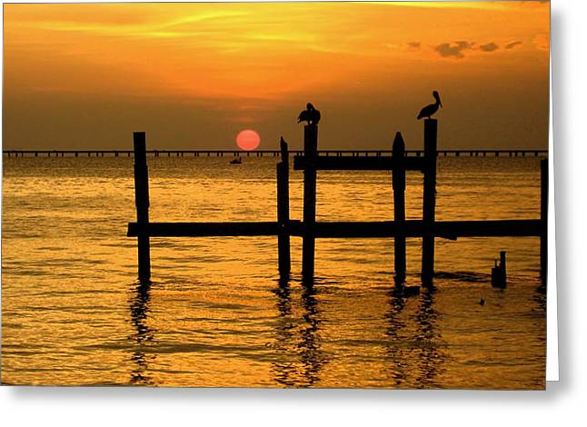 Louisiana Sunset  Greeting Card
