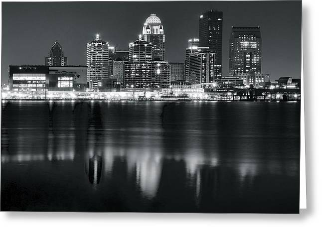 Louisville Black As Night Greeting Card