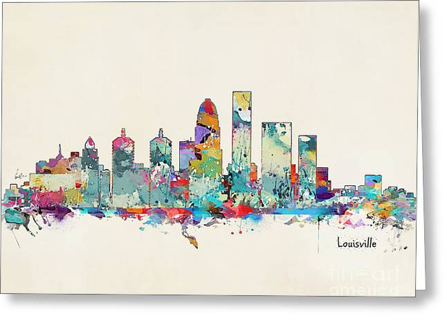 Louisville Kentucky Skyline Greeting Card