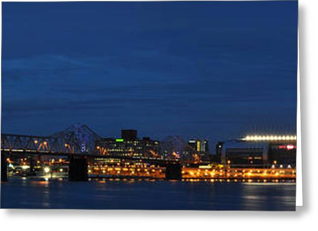 Greeting Card featuring the photograph Louisville Skyline by Deborah Klubertanz