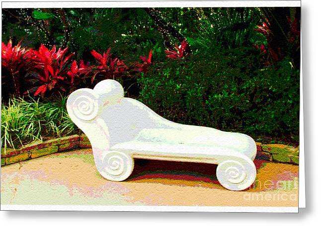 Lounge Chair Greeting Card