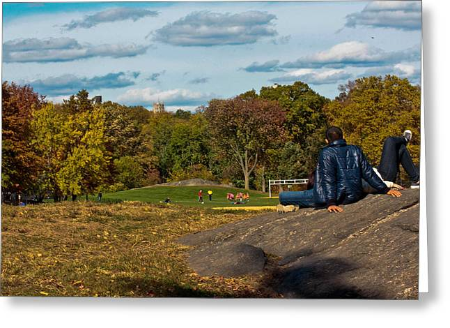 Lounging In Central Park Greeting Card