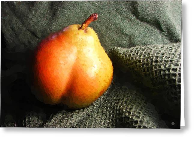 Lounging Pear Greeting Card