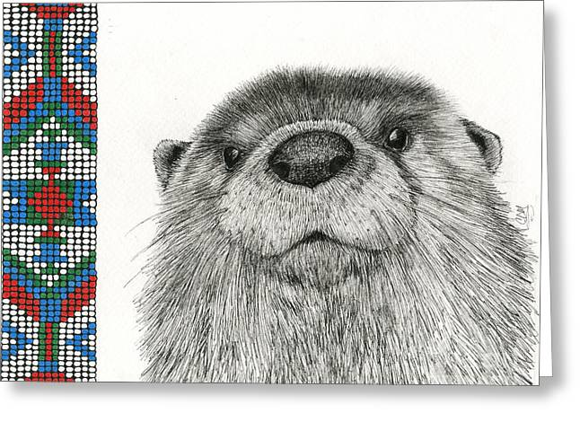 Loutre De Riviere Greeting Card