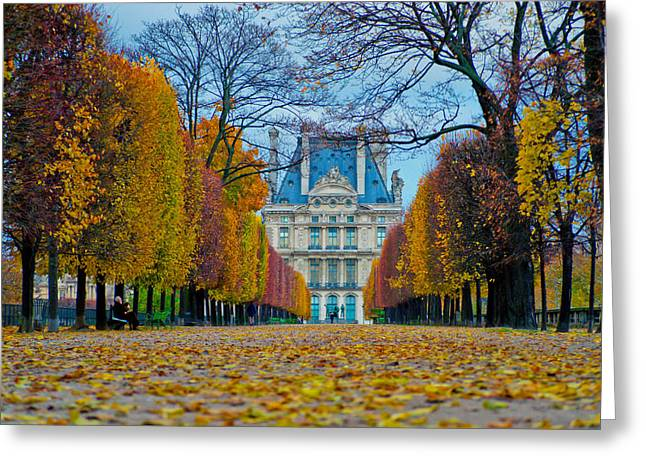 Louvre In Fall Greeting Card