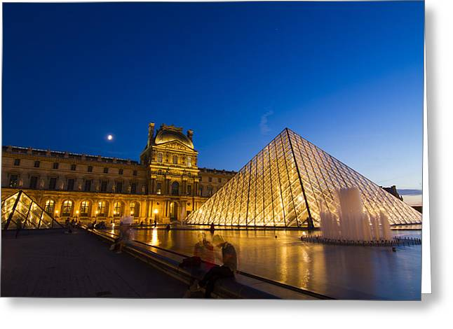 Louvre Greeting Card by Mircea Costina Photography
