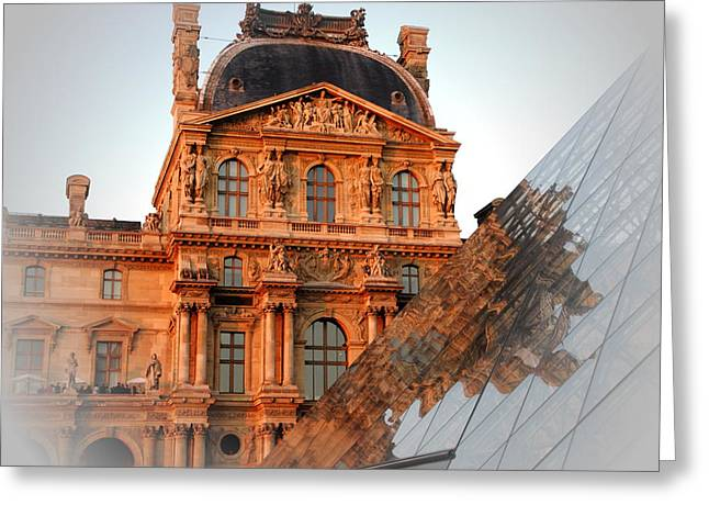 Louvre And Pei Greeting Card by Jacqueline M Lewis