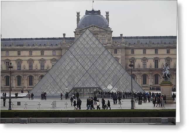 Louvre - Paris France - 011311 Greeting Card