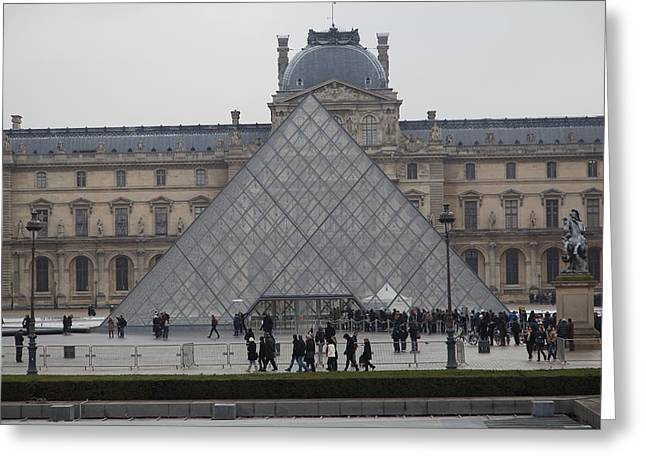 Louvre - Paris France - 011312 Greeting Card by DC Photographer