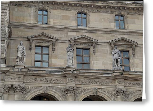 Louvre - Paris France - 01137 Greeting Card by DC Photographer