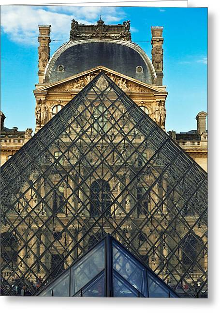 Louvre Symmetry Greeting Card