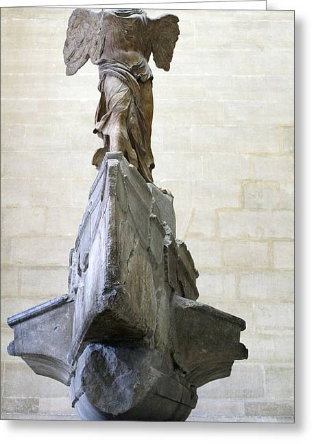 Louvre The Winged Victory Of Samothrace Greeting Card