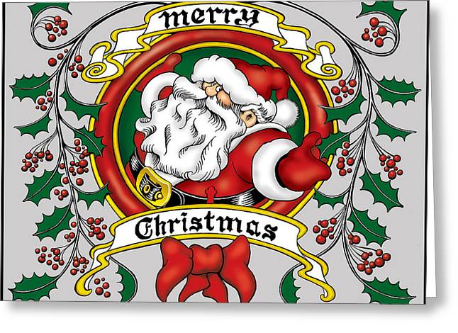 Lovable Santa Greeting Card
