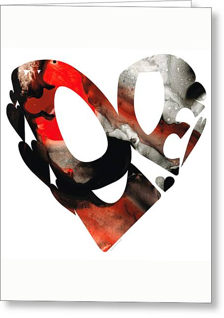 Love 18- Heart Hearts Romantic Art Greeting Card