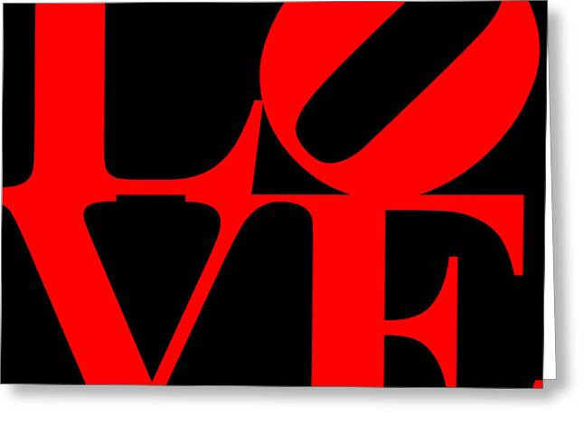 Love 20130707 Red Black Greeting Card by Wingsdomain Art and Photography