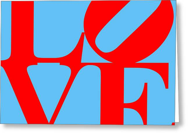 Love 20130707 Red Blue Greeting Card
