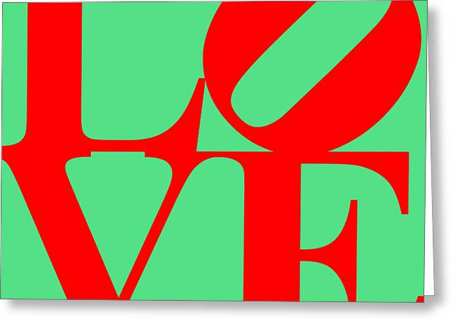 Love 20130707 Red Green Greeting Card