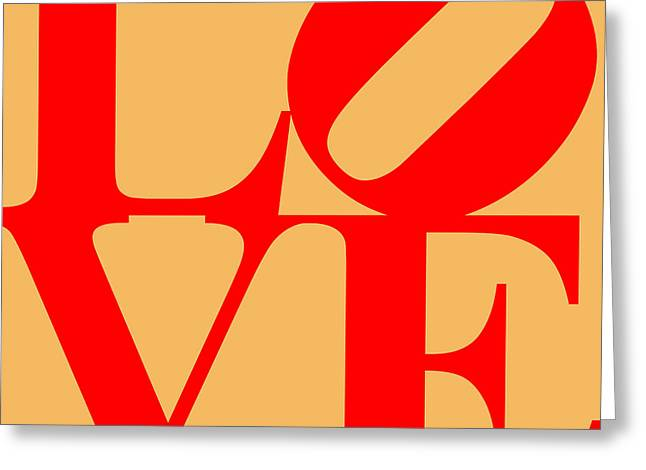 Love 20130707 Red Orange Greeting Card by Wingsdomain Art and Photography