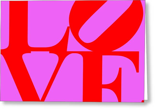 Love 20130707 Red Violet Greeting Card by Wingsdomain Art and Photography