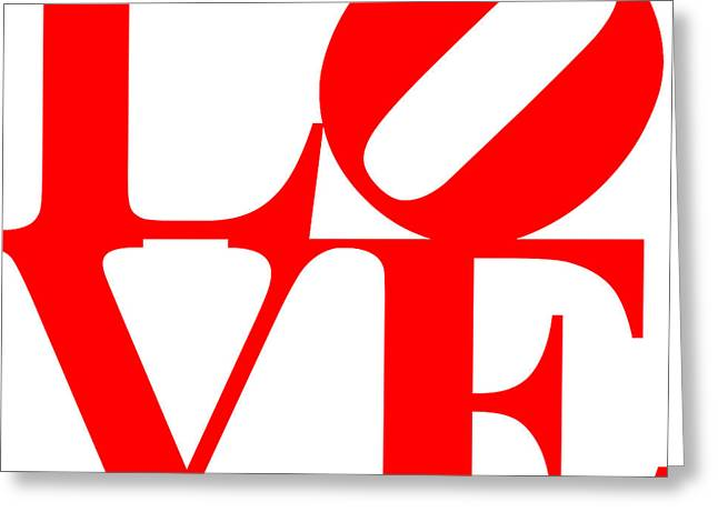 Love 20130707 Red White Greeting Card