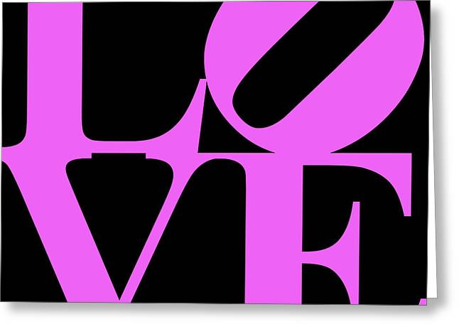 Love 20130707 Violet Black Greeting Card by Wingsdomain Art and Photography
