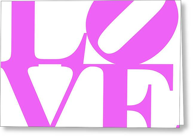 Love 20130707 Violet White Greeting Card by Wingsdomain Art and Photography