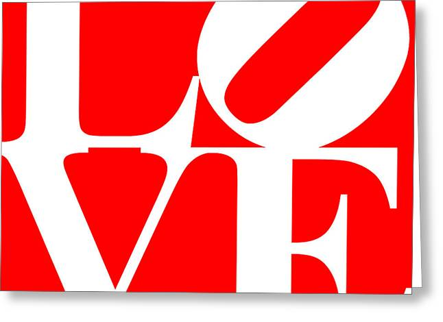 Love 20130707 White Red Greeting Card