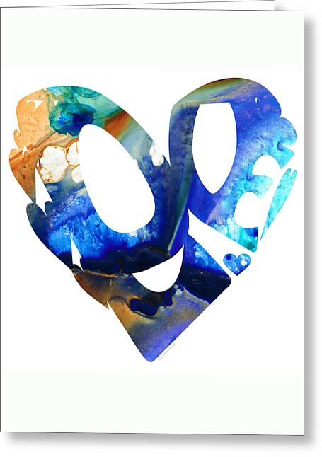 Love 4 - Heart Hearts Romantic Art Greeting Card