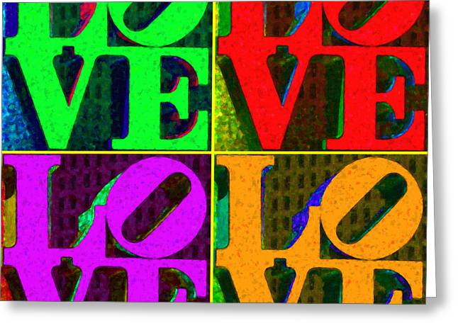 Love 4 Philadelphia - Painterly V4 Greeting Card by Wingsdomain Art and Photography