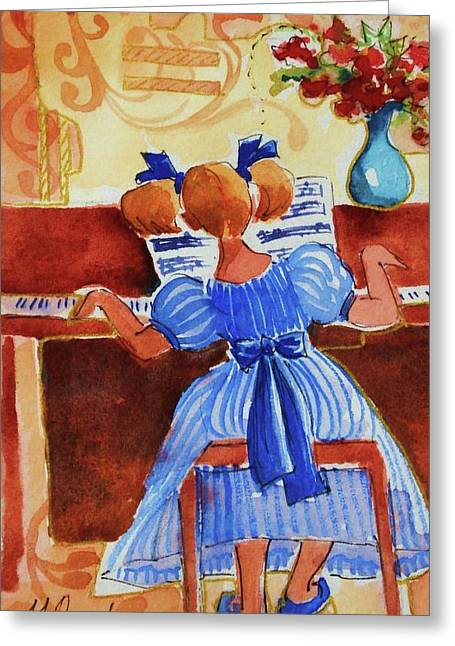 Love A Piano 3 Greeting Card by Marilyn Jacobson