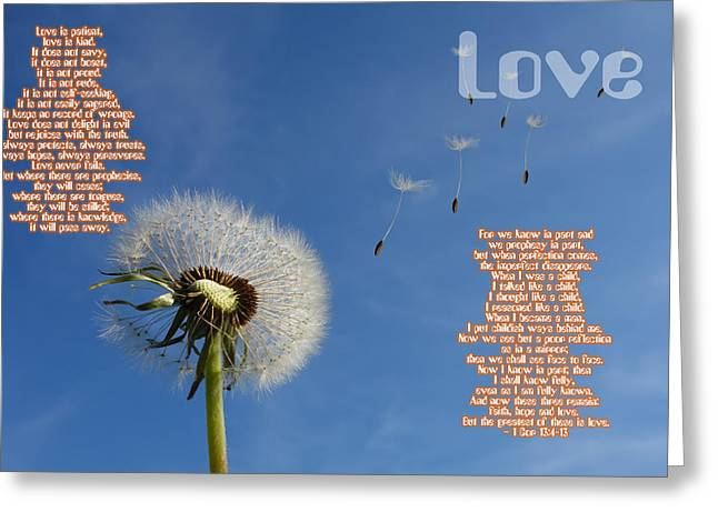 Love Greeting Card by Celestial Images