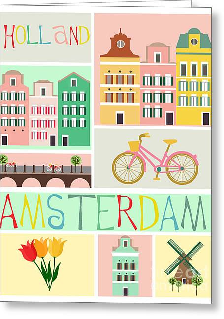 Love Amsterdam Greeting Card