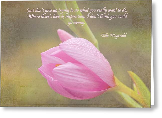 Love And Inspiration Greeting Card