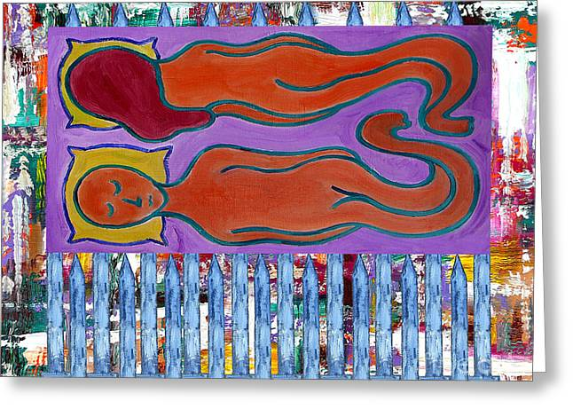 Clothing Mixed Media Greeting Cards - Love And Marriage Greeting Card by Patrick J Murphy