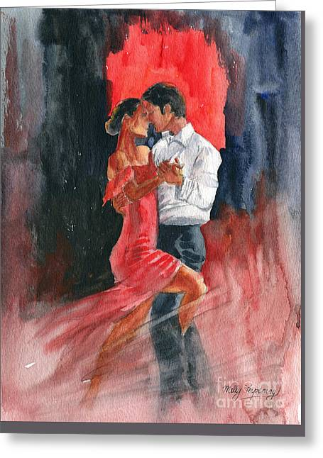 Love And Tango Greeting Card