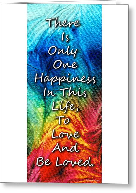Love Art - To Be Loved - By Sharon Cummings Greeting Card