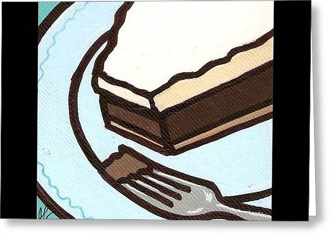 Love At First Bite Chocolate Cream Pie Greeting Card by Jim Harris