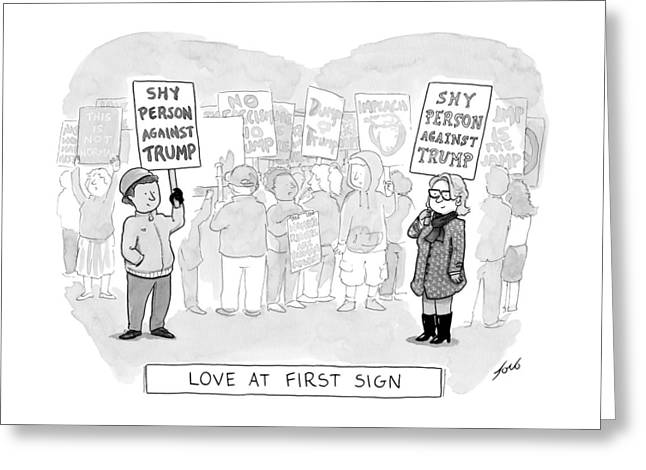 Love At First Sign Greeting Card