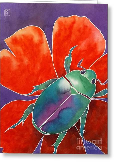 Love Beetle Greeting Card by Robert Hooper