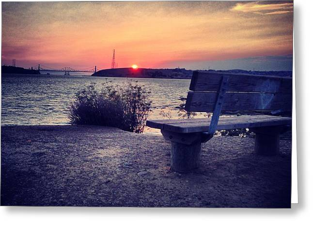 Love Bench Greeting Card by Brian Maloney