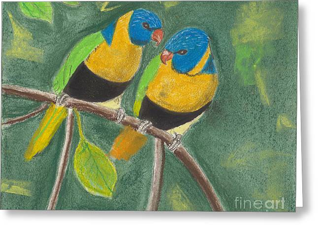 Love Birds Greeting Card by David Jackson