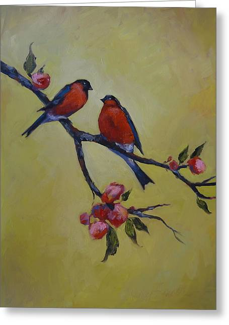 Love Birds Greeting Card by Kelley Smith