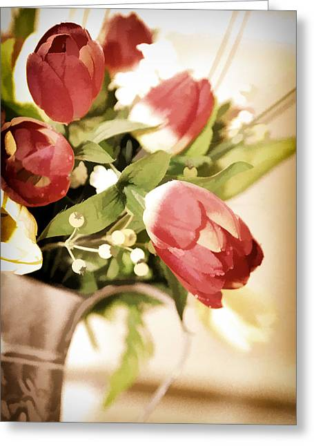 Love Blooms Here Greeting Card by Mary Timman