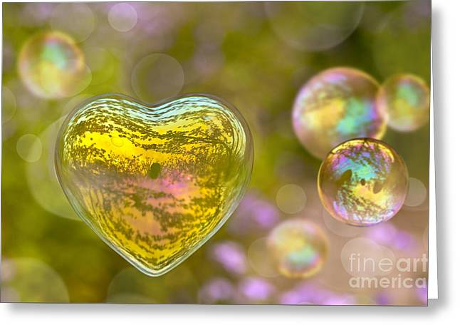 Love Bubble Greeting Card